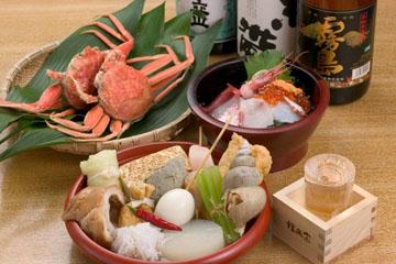 塩味おでん、山さんおすすめ海鮮丼など