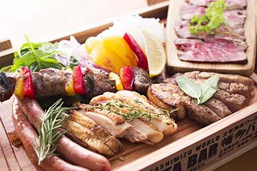 藁焼き「肉」の盛り合わせ