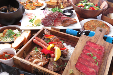 幡多バル藁焼き肉盛りコース