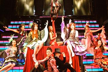 変幻自在に変化する舞台上で演じられるショーは圧巻