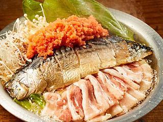 豚バラ鯖明太鍋