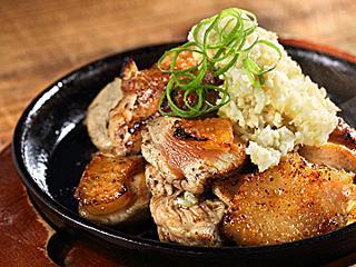 地鶏炭火焼 むね焼き 自家製ねぎ生姜