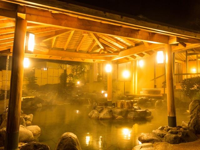 元湯 森の湯露天夜景