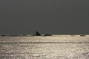茅ヶ崎のシンボル「烏帽子岩」