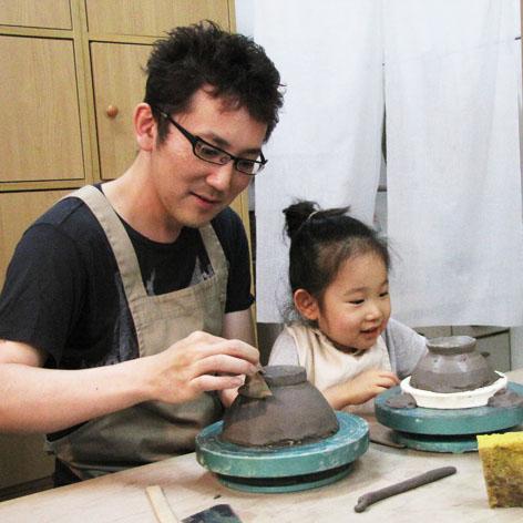 お子さまと一緒に陶芸体験☆