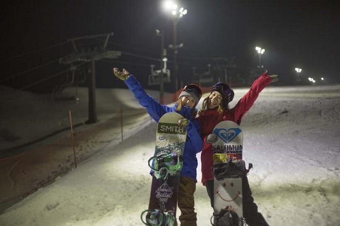 「ノルン水上スキー場」ナイター営業は24時まで☆