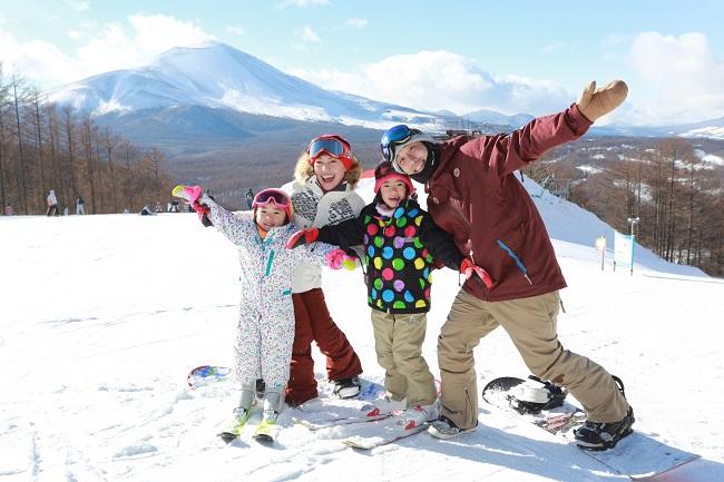 ファミリーにおすすめのスキー場『軽井沢スノーパーク』