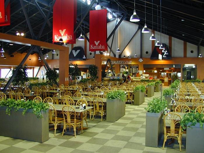 カワバシティ内にはレストランが充実!