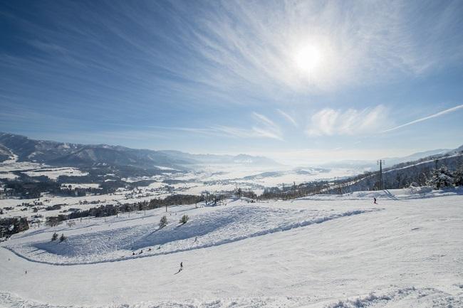 【戸狩温泉スキー場】なだらかで滑りやすいコース