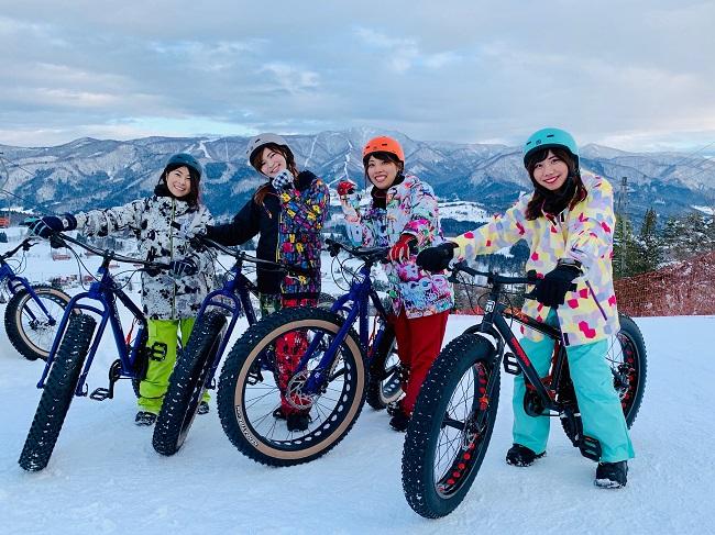 日本初!雪ちゃりスノーパーク
