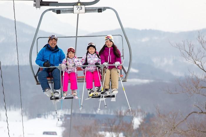 たんばらスキーパークはファミリーのゲレンデデビューにも最適♪