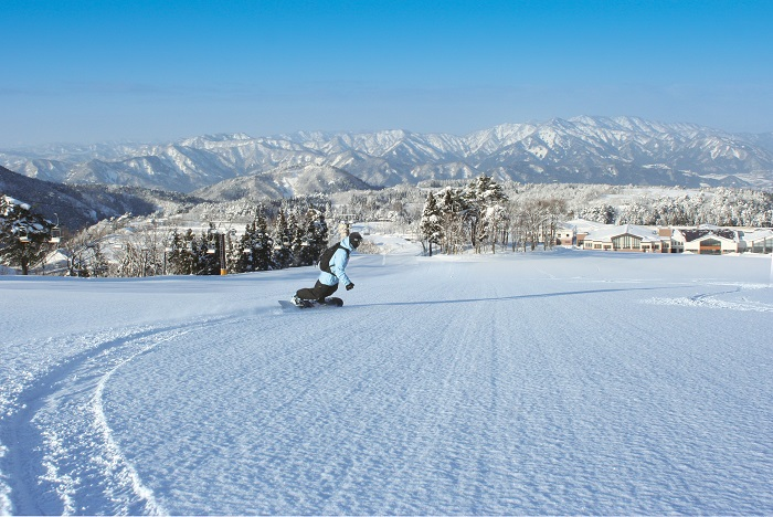 日本海側特有の恵まれた雪質、豊富な積雪量
