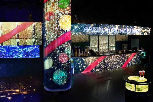 『NAKED STAR AQUARIUM -星空のクリスマス-』コーラルカフェバー「Shiny Starry Bar」