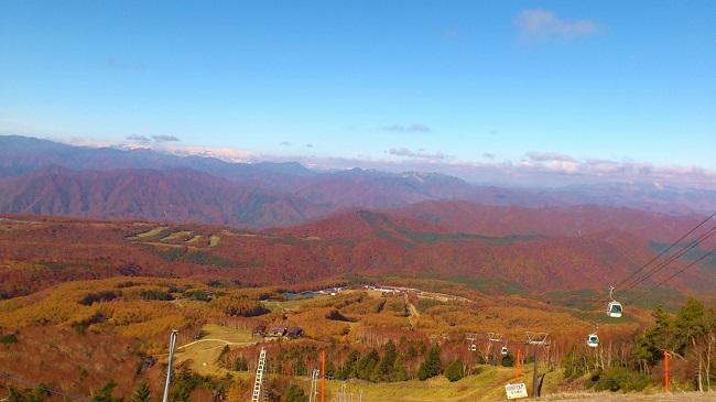ハンターマウンテン紅葉ゴンドラ2018 山頂景色