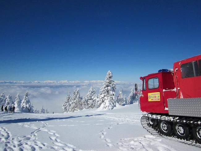 スノーキャットに乗って根子岳山頂へ☆