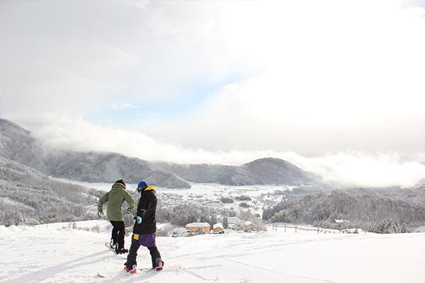 【アップかんなべスキー場】コース山頂