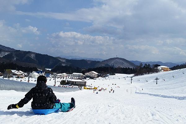 【アップかんなべスキー場】スーパーキッズウェイ 超ロングなそりコース
