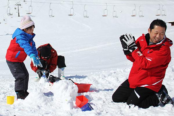 【アップかんなべスキー場】雪あそび