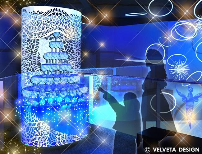 幻想的なクラゲのグラスツリー(イメージ)